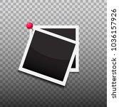 pinned photo frames vector... | Shutterstock . vector #1036157926