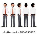 vector illustration of business ... | Shutterstock .eps vector #1036158082