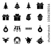 solid vector icon set  ... | Shutterstock .eps vector #1036158316