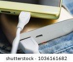 smart phone battery charging...   Shutterstock . vector #1036161682