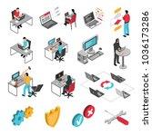 programmers software developers ... | Shutterstock .eps vector #1036173286