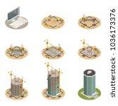 skyscraper construction process ... | Shutterstock .eps vector #1036173376