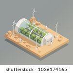 space research experimental... | Shutterstock .eps vector #1036174165