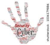 vector conceptual cyber... | Shutterstock .eps vector #1036179886