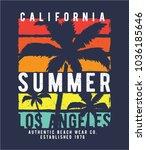 summer concept tee print design ...   Shutterstock .eps vector #1036185646