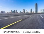 empty road with modern office... | Shutterstock . vector #1036188382
