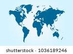 world map vector.   Shutterstock .eps vector #1036189246