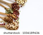 nuts mix for a healthy eating ... | Shutterstock . vector #1036189636