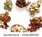 nuts mix for a healthy eating ... | Shutterstock . vector #1036189645