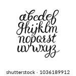 brush hand lettering alphabet.... | Shutterstock .eps vector #1036189912