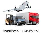 3d world wide cargo transport... | Shutterstock . vector #1036192822