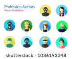 set of professions avatars icon ...