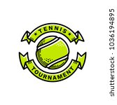 tennis tournament emblem ... | Shutterstock .eps vector #1036194895