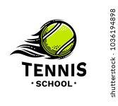 tennis school emblem ... | Shutterstock .eps vector #1036194898