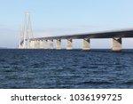 the great belt bridge called... | Shutterstock . vector #1036199725