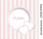 wedding greetings or invitation ... | Shutterstock .eps vector #103619996