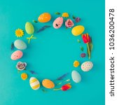 creative easter layout made of... | Shutterstock . vector #1036200478
