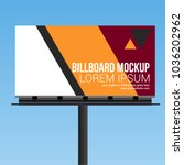 billboard abstract design... | Shutterstock .eps vector #1036202962