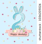 vector illustration with number ... | Shutterstock .eps vector #1036205026