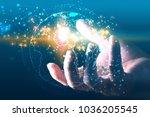global network concept.   | Shutterstock . vector #1036205545