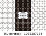 seamless floral pattern set ... | Shutterstock .eps vector #1036207195