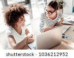 pleasant partnership. joyful... | Shutterstock . vector #1036212952