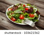 Fresh Salad With Tomato And...