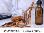 herbal medicine extract from... | Shutterstock . vector #1036217092