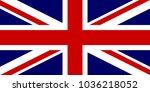 united kingdom flag. flag of... | Shutterstock .eps vector #1036218052