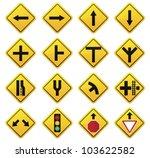 road sign  set | Shutterstock .eps vector #103622582