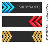set of three textured banners... | Shutterstock .eps vector #1036229932
