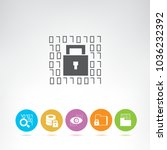 internet security icons   Shutterstock .eps vector #1036232392