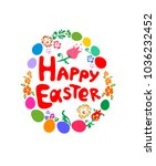 easter greeting childish card... | Shutterstock .eps vector #1036232452