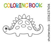 cute dino coloring book. | Shutterstock .eps vector #1036237606
