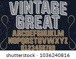 font alphabet typeface...   Shutterstock .eps vector #1036240816