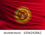 the national flag of kyrgyzstan.... | Shutterstock .eps vector #1036242862
