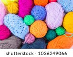 knitting ball of yarn and... | Shutterstock . vector #1036249066