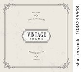 decorative vintage frames.... | Shutterstock .eps vector #1036249948