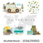 to the wild vector illustration ... | Shutterstock .eps vector #1036250002