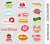 set of flat design social... | Shutterstock .eps vector #1036254358
