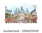 venice city in italy. historic... | Shutterstock .eps vector #1036255435