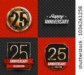 25 years anniversary logos on... | Shutterstock .eps vector #1036261258