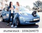 best friends. joyful pleasant... | Shutterstock . vector #1036264075