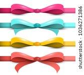 bow   ribbon vector set.... | Shutterstock .eps vector #1036271386