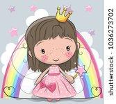 cute cartoon fairy tale... | Shutterstock .eps vector #1036273702