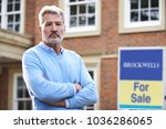 mature man forced to sell home... | Shutterstock . vector #1036286065