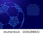 football from polygonal blue... | Shutterstock .eps vector #1036288822