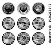 set silver labels and badges of ... | Shutterstock .eps vector #1036288846