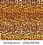 cartoon realistic leopard... | Shutterstock .eps vector #1036298782