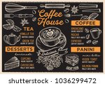 coffee restaurant menu. vector... | Shutterstock .eps vector #1036299472